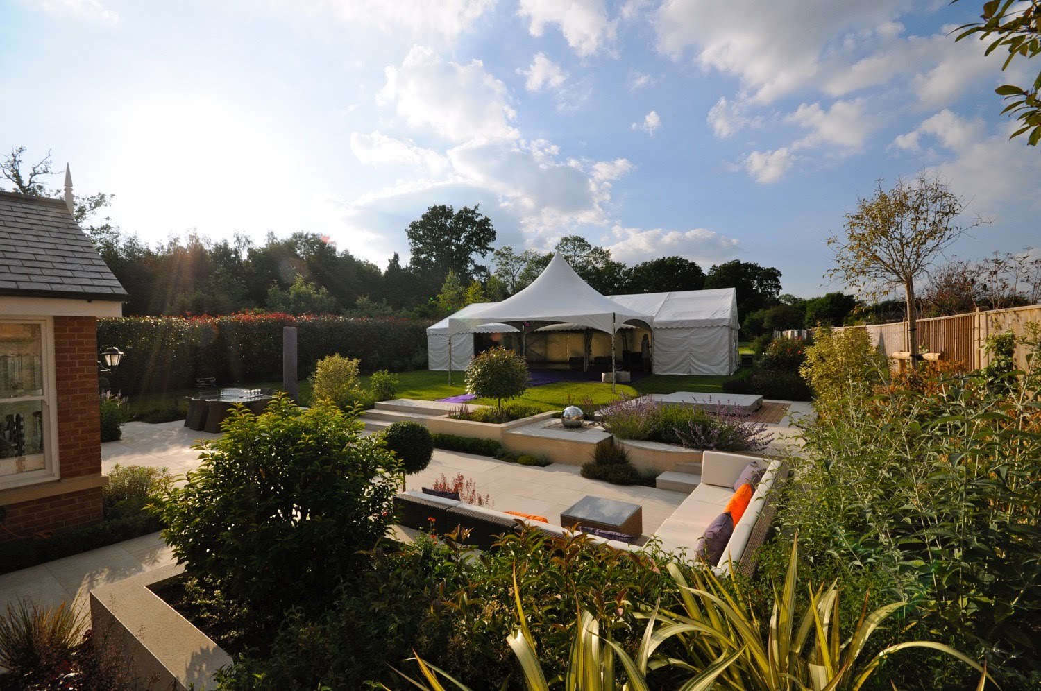 Summer garden party with marquee