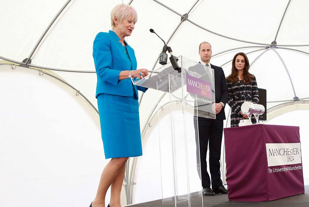 The Duke & Duchess of Wessex at Manchester University opening