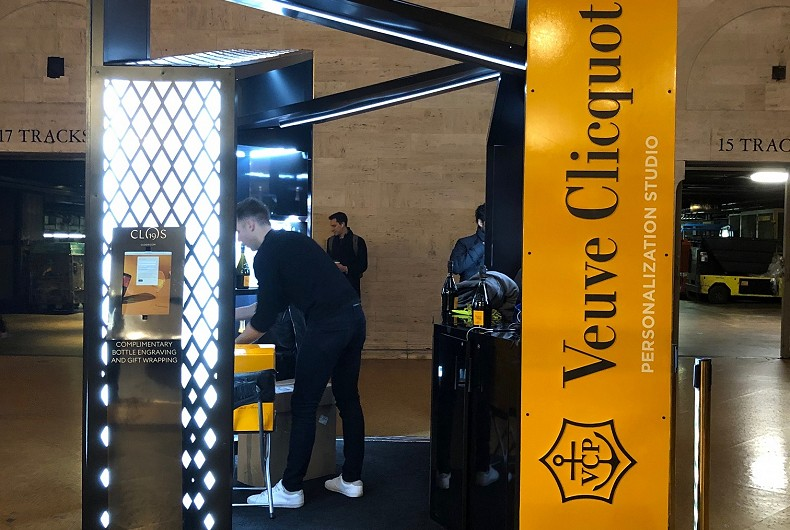 Veuve Clicquot pop up shop in Grand Central Station