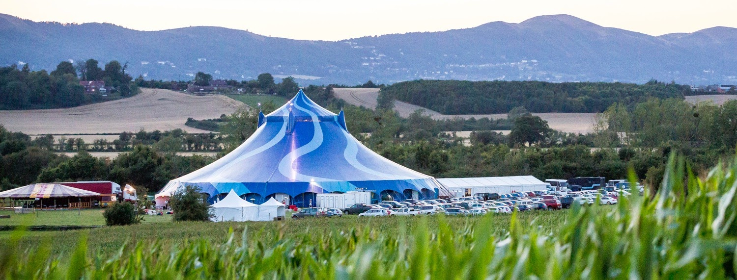 Big top party in a field