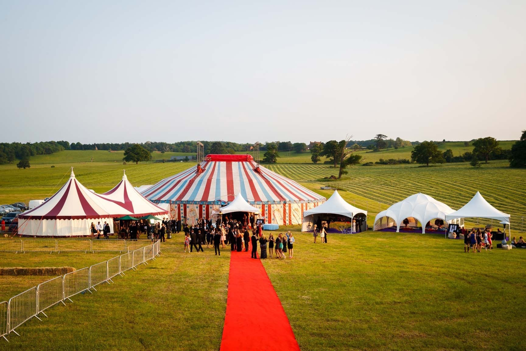 Big top and marquees at a festival party