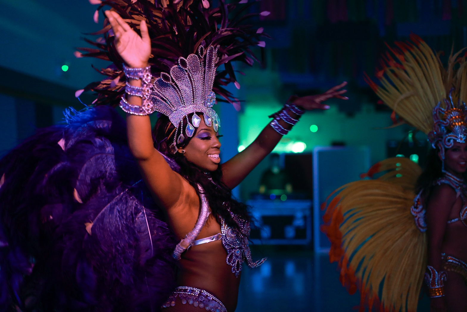 Rio Samba dancer performing at a party